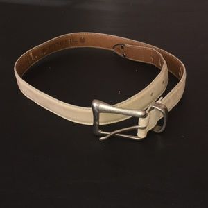 Fossil Cream Leather Belt